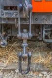 Szczegółowy widok stary furgonu blejtram, ośniedziały kawałka antyka system fotografia stock