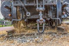 Szczegółowy widok stary furgonu blejtram, ośniedziały kawałka antyka system obrazy royalty free