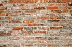 Szczegółowy widok struktura ściana brudne czerwone cegły obraz stock