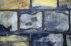 Szczegółowy widok struktura ściana kamienie obraz stock