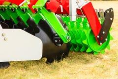 Szczegółowy zbliżenie dysk brony rolnicza maszyneria Obrazy Royalty Free