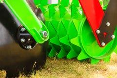 Szczegółowy zbliżenie dysk brony rolnicza maszyneria Zdjęcia Royalty Free