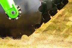 Szczegółowy zbliżenie dysk brony rolnicza maszyneria Zdjęcie Royalty Free