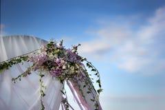 Szczegółu ślubny namiot fotografia royalty free
