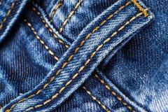 Szczegółu cztery pasowe pętle na niebieskich dżinsach Obrazy Royalty Free