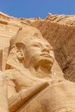 Szczegółu kolos Abu Simbel zdjęcie stock