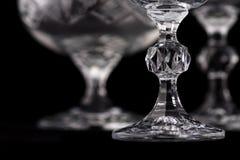 szczegółu krystaliczny rżnięty szkło Obrazy Royalty Free