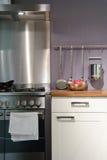 szczegółu kuchni pieprzy czerwieni stołu kolor żółty Zdjęcie Royalty Free
