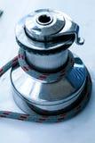 _ szczegółu linowy żaglówki winch jachtu jachting Żaglówka szczegół obrazy stock