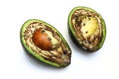 Szczegółu obrazek brzydki przegniły avocado Zdjęcia Royalty Free