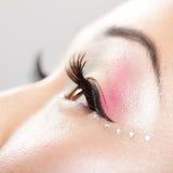 szczegółu oka makeup zdjęcia stock