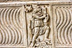 Szczegółu Romański barelief na grób Fotografia Royalty Free