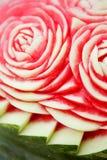 szczegółu rzeźbiący arbuz Zdjęcia Royalty Free