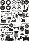 szczegółu samochodowy set ilustracja wektor