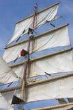 szczegółu stary żeglowania statku biel fotografia royalty free
