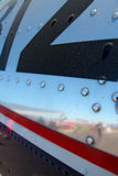 Szczegółu widok samolotów nity fotografia royalty free