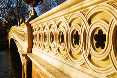 Szczegóły łęku most w Nowym York& x27; s central park obraz stock