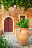 Szczegóły Arkadi monaster Moni Arkadhiou na Crete wyspie fotografia royalty free