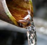 szczegóły bambusowa fontanna Obraz Royalty Free