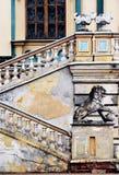 szczegóły barok pałacu. Fotografia Royalty Free