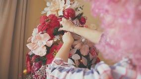 Szczegóły choinka Świętowanie atmosfera Zdjęcie Royalty Free