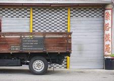 Szczegóły ciężarówka na ulicie w Melaka, Malezja Obrazy Stock