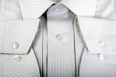 szczegóły człowiek koszula white obraz stock