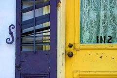 szczegóły drzwi fotografia stock