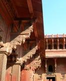 Szczegóły fort Agra, Północny India Obraz Stock