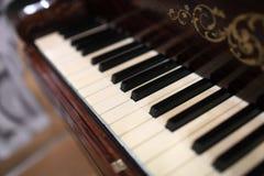 Szczegóły fortepianowa klawiatura zdjęcia royalty free