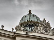 Szczegóły Hofburg pałac w Wiedeń centrum miasta fotografia royalty free