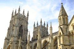 Szczegóły Jork katedra, także nazwany Jork minister Obrazy Royalty Free