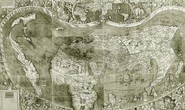 szczegóły kartografują starego Obrazy Royalty Free