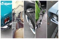 Szczegóły klasyczni samochody Zdjęcia Royalty Free