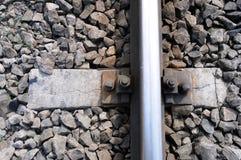 szczegóły linię kolejową fotografia stock