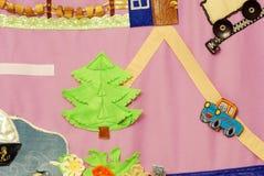 Szczegóły miękka kreatywnie mata dla rozwoju dziecko Obrazy Royalty Free