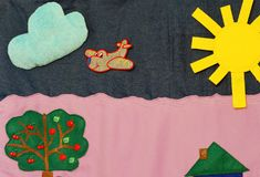 Szczegóły miękka kreatywnie mata dla rozwoju dziecko Obrazy Stock