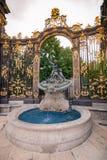 Szczegóły miasto kwadrat w Nancy z swój złotym fo i ogrodzeniem Obraz Royalty Free