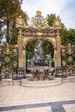 Szczegóły miasto kwadrat w Nancy z swój złotym fo i ogrodzeniem Obrazy Stock