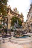 Szczegóły miasto kwadrat w Nancy z swój złotym fo i ogrodzeniem Zdjęcie Stock