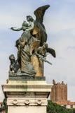 Szczegóły na zwycięzcy Emmanuel zabytku, Rzym, Włochy Zdjęcie Royalty Free
