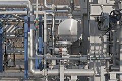 Szczegóły nowożytny gazu naturalnego zakład przetwórczy Zdjęcia Stock