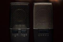 Szczegóły Nowożytny Kondensatorowy mikrofon Zdjęcia Royalty Free