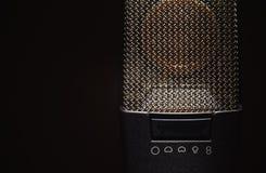 Szczegóły Nowożytny Kondensatorowy mikrofon Fotografia Stock
