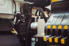 Szczegóły nowy silnik przy wystawą Obraz Stock