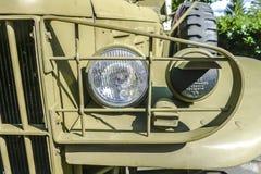 Szczegóły od klasycznego militarnego Dodge Prestone zdjęcie stock
