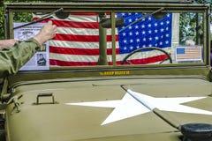Szczegóły od klasycznego militarnego Dodge Prestone obraz stock