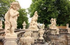 Szczegóły od Zwinger Roszują ` s ` Nymphenbad ` w Drezdeńskim, Niemcy Obraz Stock