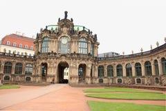 Szczegóły od Zwinger Roszują ` s podwórze w Drezdeńskim, Niemcy obraz royalty free