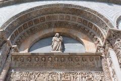 Szczegóły powierzchowność Pisa Baptistery St John wielki baptistery w Włochy, w kwadracie cudy Zdjęcia Stock